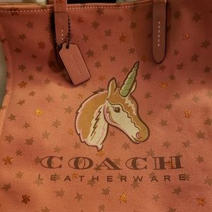 Coach Canvas Unicorn Tote
